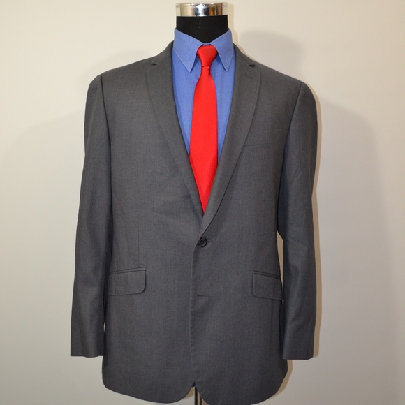 Kenneth Cole Other - Kenneth Cole 42R Sport Coat Blazer Suit Jacket Gra